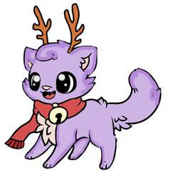 Cute Christmas Cat Adopt {Open} by UnicornDrawsXX