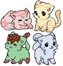 Dessert Kitten Adopts {Open} by UnicornDrawsXX
