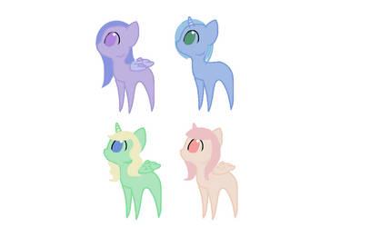 Chibi Pony Adopts {4/4 Open} by UnicornDrawsXX