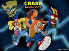 Crash Bandicoot drawing by Freddygbaf