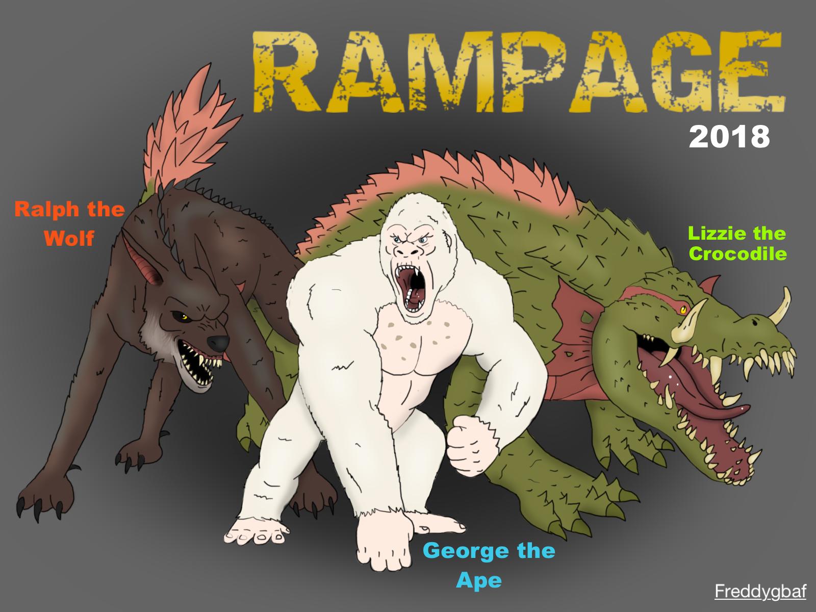 Rampage Drawing By Freddygbaf On Deviantart