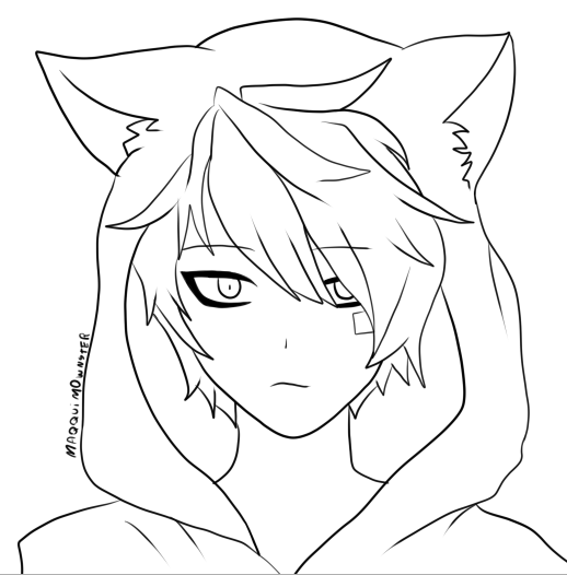 anime neko coloring pages | Neko Boy by Bxbbless on DeviantArt