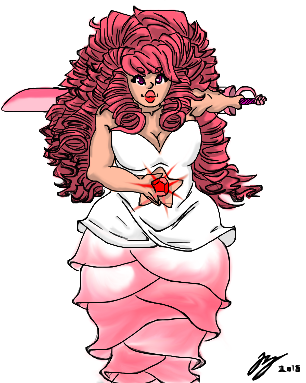 Steven Universe Sketch Rose: Rose Quartz: Steven Universe By SQUINTINTURNINCHINO On