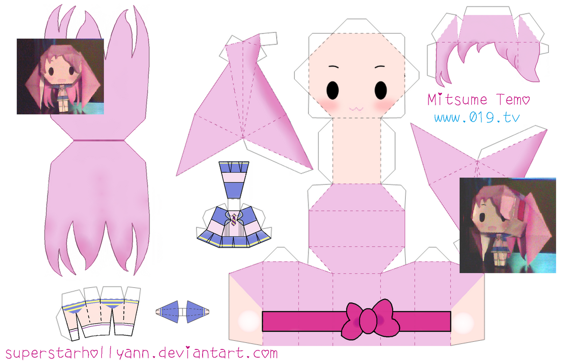 Chibi temo papercraft by superstarhollyann on deviantart for Cute papercraft templates
