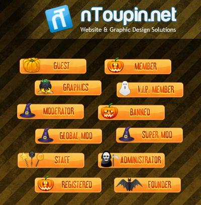 Halloween Forum Rank Set by nToupin on DeviantArt