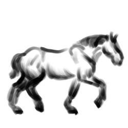Trotting Horse GIF