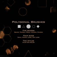 Polygonal Brush Set by GekkouDoragon