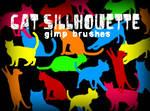 Cat Silhouette GIMP Brushes