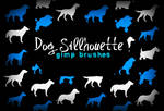 Dog Silhouette GIMP Brushes