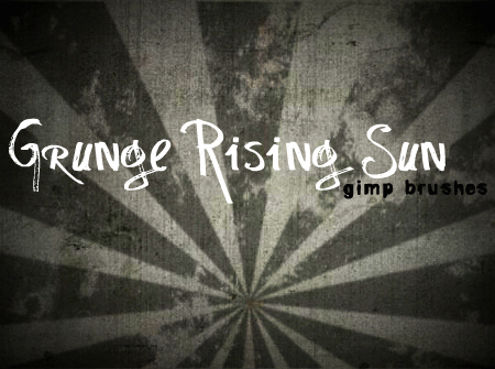 Grunge Rising Sun GIMP Brushes by annadigiovanni