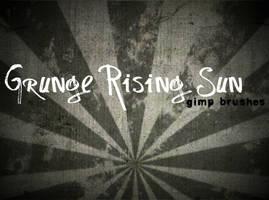 Grunge Rising Sun GIMP Brushes