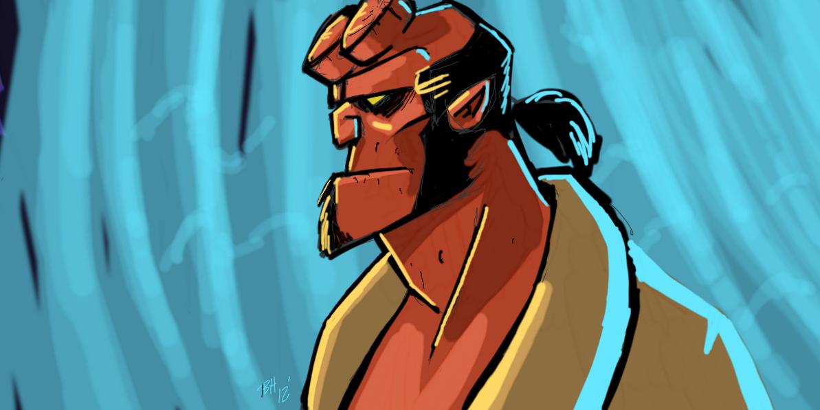 Hellboy quickie by Hesstoons