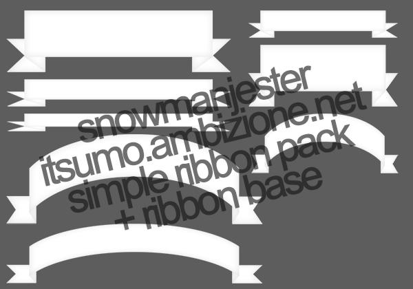 Ribbon Pack + Unassembled Ribbon Base by snowmanjester