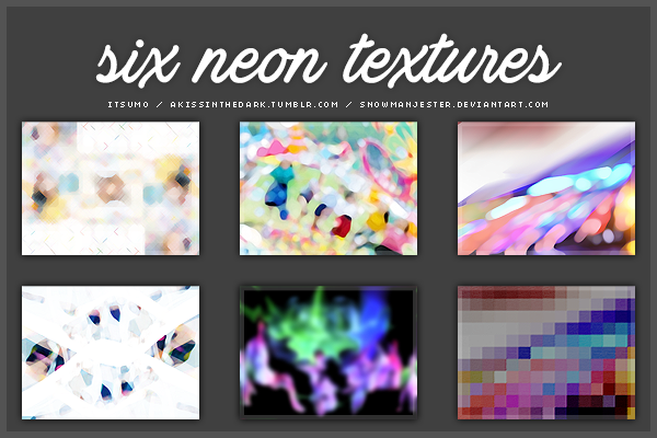 Neon Texture Pack by snowmanjester
