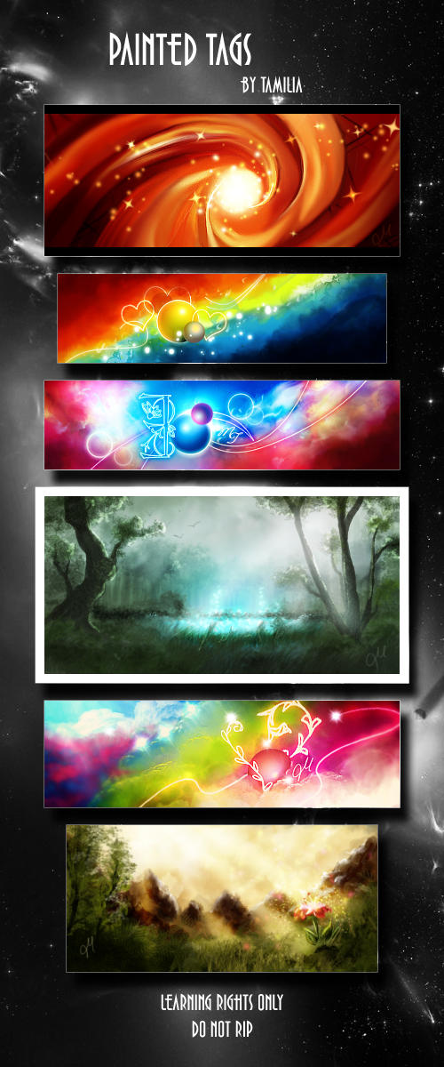 PSD pack by Tamilia PSD_Pack_Painted_Tags_by_Tamilia