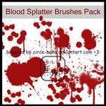 Blood Splatter Brushes Pack