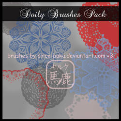 Doily Brushes Pack by LauNachtyr