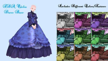 {MMD} - TDA Odelia Dress Base (+DL) by thietanavenus
