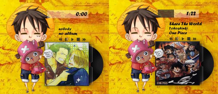 One Piece Rainmeter CdArt : Luffy by lyneixlynn