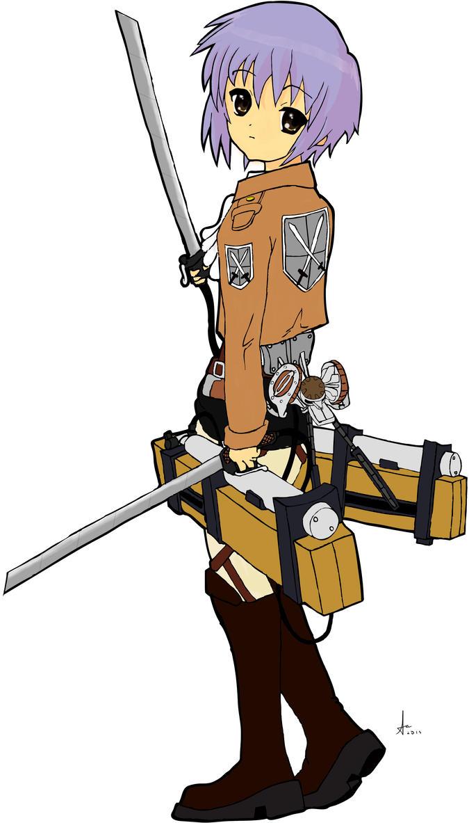 Shingeki no Kyojin x Yuki Nagato by Ace2560
