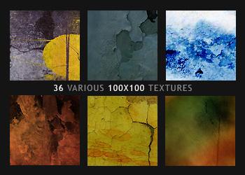 Mixed 100x100 Textures by diebutterfliege