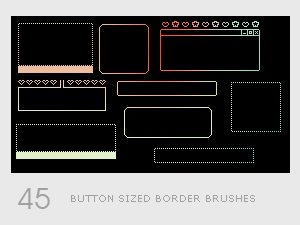 Button Sized Border Brushes by diebutterfliege