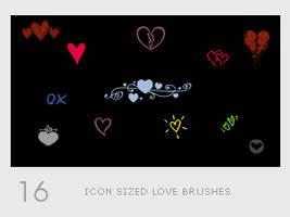 Icon Sized Love Brushes