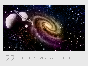 Medium Sized Space Brushes by diebutterfliege