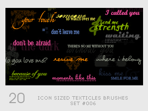Icon sized Texticles by diebutterfliege