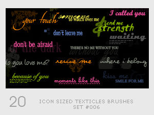 Icon sized Texticles