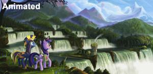 Travellers at Neighagara Falls (Animated)