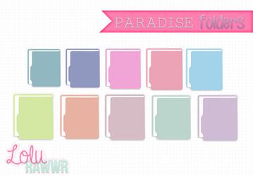 Paradise Folders || by LuliWazowski