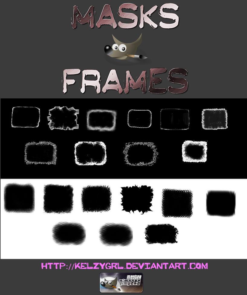 Masks Frames by kelzygrl