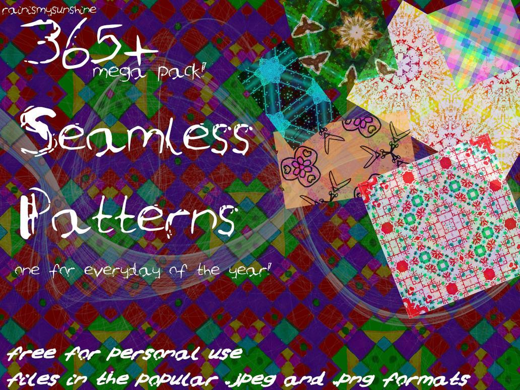 Mega Pack Seamless Patterns by rainismysunshine