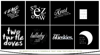 Text Icon Textures - Ella Fitzgerald Lyrics by elizacunningham