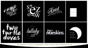 Text Icon Textures - Ella Fitzgerald Lyrics