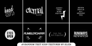 Random Text Icon Textures