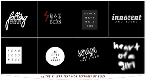 The Killers Text Icon Textures