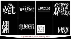 Queen Text Icon Textures
