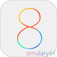 iOS 8 Logo PSD (Official) by simalary44