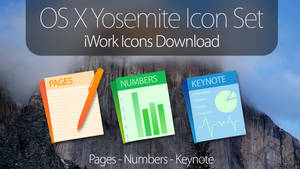 OS X Yosemite Icons - iWork Applications DOWNLOAD by simalary44