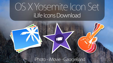 OS X Yosemite Icons - iLife Applications DOWNLOAD