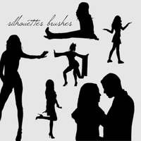 Silhouettes Brushes by camilla917