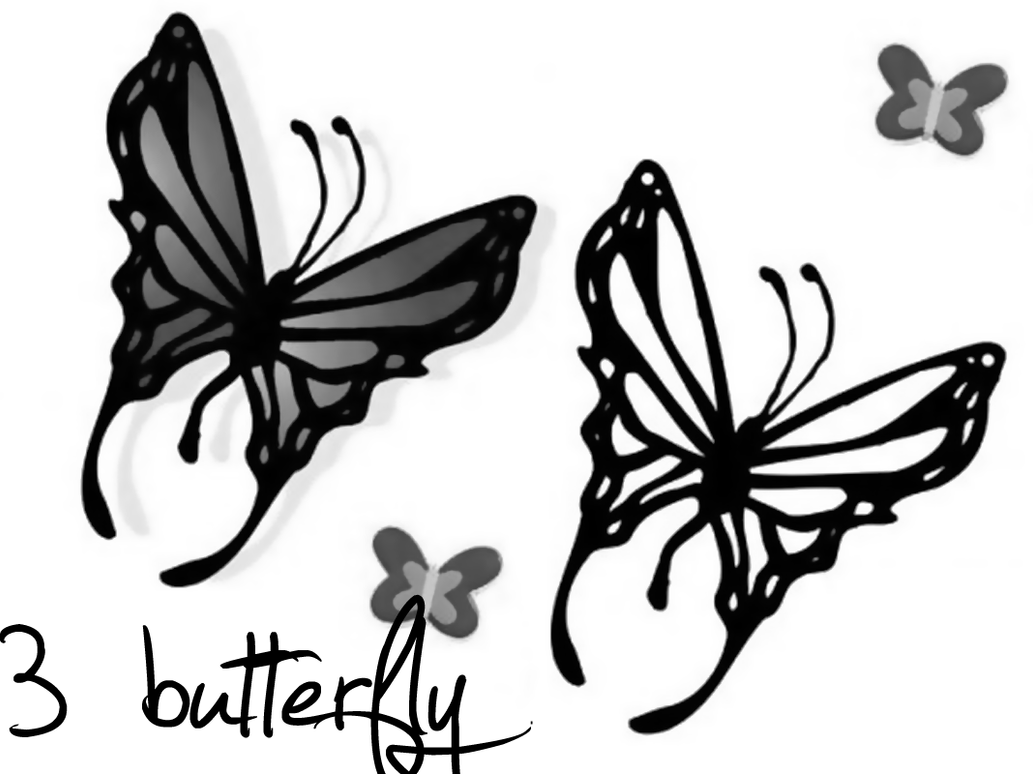Download beautiful butterfly sketch brushes for photoshop cs5