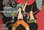 One Piece : Luffy Zoro And Sanji [PSD+Color Base] by Rollando35