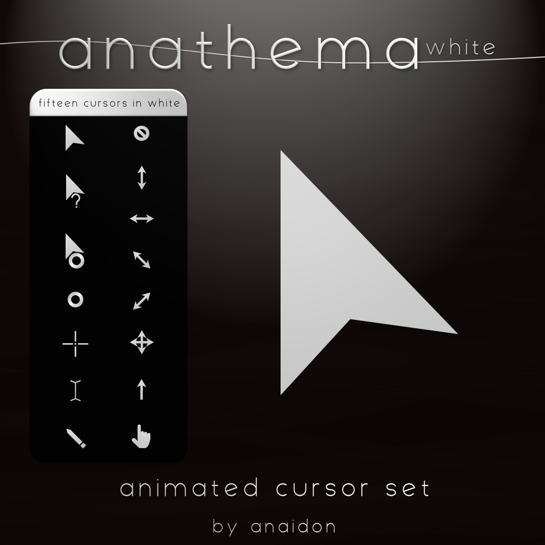 Anathema White Cursor Set