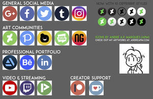 Art Social Media Icons - 10 Style Pack by Andre-APM