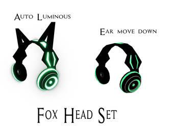 [MMD] Fox Head set by RavenUzukiChan