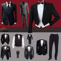 Tuxedo Parts and Pieces by Alamuki