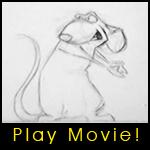 Ratatouille Pencil Test by Coripel
